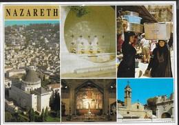 NAZARETH - VARIE VEDUTE - VIAGGIATA 1996 FRANCOBOLLO ASPORTATO - Israele