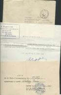 """Autorisation De Résidence , Cachet Déesse Assise à Sec """" Contrôle Régional Sureté / Coblence"""" 1948, + Divers   -  Lx1104 - French Zone"""