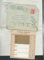 """Mailing De 1935, Contenant Tarifs , Echantillons Tissus , """"Uniformes Charles Stelzlé , Paris    -  Lx1107 - Documents"""