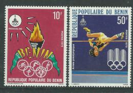 Bénin  N° 455 / 56 X  Année Préolympique. Les 2 Valeurs  Trace De Charnière Sinon TB - Bénin – Dahomey (1960-...)