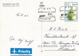 Aland 2001 Kastelholms Castle Adder's Fern Polypodium Vulgare Viewcard - Aland