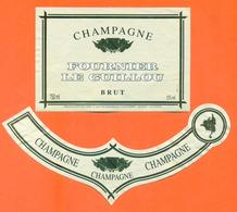 étiquette + Collerette De Champagne Brut Fournier Le Guillou à étrepy - 75 Cl - Champagne