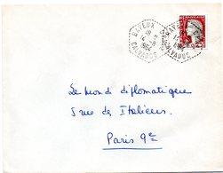 CALVADOS - Dépt N° 14 = BAYEUX 1964 = CACHET Hexagonal Pointillé CIRCUIT POSTAL CP N° 2 - Marcophilie (Lettres)