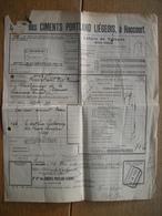 1924 Lettre De Voiture Cachet NORD BELGE  Gare De RENORY Vers HERSTAL 2 - Chemins De Fer
