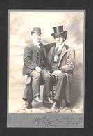 HUMOUR - INSOLITE - LE GÉANT CANADIEN ÉDOUARD BEAUPRÉ ET SON PÈRE SUR SES GENOUX NÉ EN 1881 ET DÉCÉDÉ EN 1904 - Humour