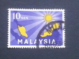 Malaysia - 1963 - Mi:MY 1, Sn:MY 1, Yt:MY 1 O  - Look Scan - Malaysia (1964-...)