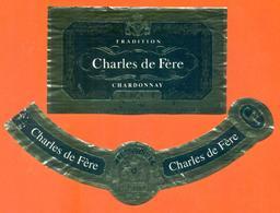 étiquette + Collerette De Champagne Brut Charles De Fère à ? - 75 Cl - Champagne
