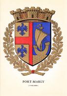 78 PORT MARLY /   - BLASON  AVEC HERALDIQUE ET PETIT HISTORIQUE AU VERSO - CARTE DOUBLE - France
