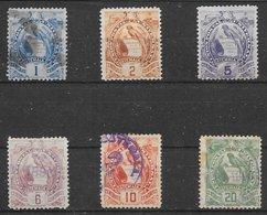 Guatémala N°44, 45, 47 à 50 1886-95 O - Guatemala