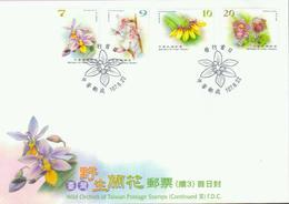 Taiwan 'Heimische Orchideen IV' / Taiwan 'Wild Orchids Of Taiwan P.4' FDC 2018 - Orchideen