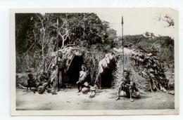 RARE CPA 1937 CONGO OUBANGUI CHARI ANIME NEGRILLES BABINGA NU ETHNIQUE COLLECTION ETHNOGRAPHIQUE 2 PLIS COINS - Central African Republic