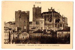 NARBONNE ENSEMBLE DE L'HOTEL DE VILLE ET CATHEDRALE- VG 1932 FP - C381 - Narbonne