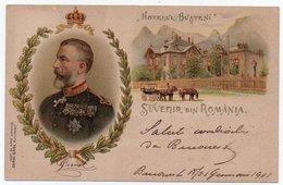 ROMANIA / ROUMANIE / SALUTARI DIN ROMANIA / HOTELUL BUSTENI / ROYALTY / LITHO / - Rumänien