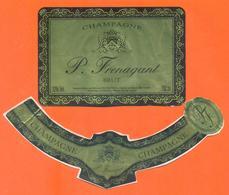 étiquette + Collerette De Champagne Brut P Frenagant à Crouttes Sur Marne - 75 Cl - Champagne