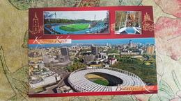 Kiev Dinamo \ Lobanovsky Monument \ Olimpiyskiy National Stadium - Stade Aerial View / Rare Edition Baltia Druk - Stadi