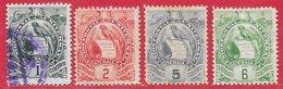 Guatémala N°105 à 108 1900-02 (gravé) O - Guatemala