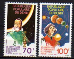 Benin N° 471 / 72 X 50ème Anniversaire De La Découvrte De La Planète Pluton,  Les 2 Valeurs  Trace De Charnière Sinon TB - Bénin – Dahomey (1960-...)