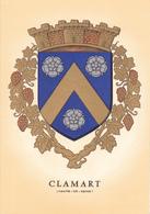 92 CLAMART /   - BLASON  AVEC HERALDIQUE ET PETIT HISTORIQUE AU VERSO - CARTE DOUBLE - Clamart