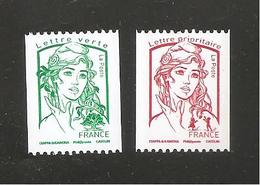 France, Roulette, 5017, 5018, Neuf **, TTB, Marianne De Ciappa Et Kawena - 2013-... Marianne Of Ciappa-Kawena