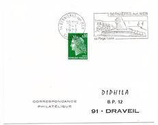 CALVADOS - Dépt N° 14 = BERNIERES Sur MER 1973 =  FLAMME FDC = SECAP Illustrée  D'un MONUMENT 'PLAGE Iodée ' - Postmark Collection (Covers)