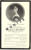 FAIRE PART DECES 27/5/1911 DE ISABELLE LAURENCE MARIE DE LA ROCHELAMBERT MONTFORT MARQUISE DE MAUPEOU - Décès