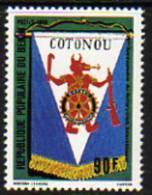 """Bénin N° 473 / 74 XX  75ème Anniversaire Du """"Rotary International""""  Les 2 Valeurs  Trace De Charnière Sinon TB - Bénin – Dahomey (1960-...)"""
