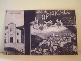 "APRICALE (ITALIE) CARTE MULTIVUE. SALUTI DA APRICALE. CHIESA PARROCCHIALE. 100_6415""a"" - Other Cities"