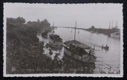 HC 1936 - URUGUAY Colonia CARMELO - ARROYO DE LAS VACAS - BOATS - Edit. POLICAR # 28 - REAL PHOTO POSTCARD - USED RPPC - Uruguay