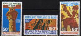 Benin N° 475 / 77 X 20ème Anniver. De La Sauvegarde Des Monuments De Nubie,  Les 3 Valeurs  Trace De Charnière Sinon TB - Bénin – Dahomey (1960-...)