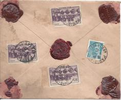 Paris VIII Rue De La Boetie 8 10 1942 Lettre Chargée Tarif 30.50F Timbres Angers (3ex Dont 1 Défaut) Et 50c Mercure - Marcophilie (Lettres)