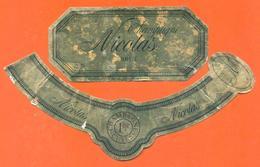 étiquette + Collerette De Champagne Brut Nicolas à 51599 - 75 Cl - Champagne