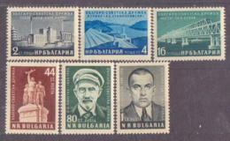 68-964 / BG - 1955  SOVIET - BULGARIAN  FRENDSHIP  Mi 973/78 ** - 1945-59 Volksrepublik