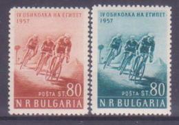 68-967 / BG - 1957  EGYPT CYCLING TOUR   Mi 1019/20 ** - 1945-59 Volksrepublik
