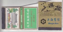 2 BOITES D'ALLUMETTES DE CHINE - EN L'ETAT SUR SUPPORT PAPIER - - V/IMAGE - Boites D'allumettes - Etiquettes