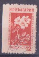 69-032 / BG - 1953  PLANTS    Mi 875 O  Left Side Imperforated ! - Abarten Und Kuriositäten