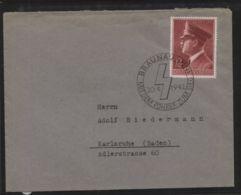 Dt. Reich - MiNr. 813 Als EF Auf Brief Mit SST BRAUNAU (INN) 20.4.1942 - Deutschland
