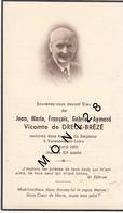 FAIRE PART DECES 06/04/1953 DE JEAN MARIE FRANCOIS GABRIEL AYMARD VICOMTE DE DREUX BREZE - Décès