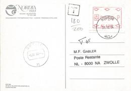 Aland 1984 Mariehamn ATM FRAMA Underfranked Taxed Viewcard - Aland