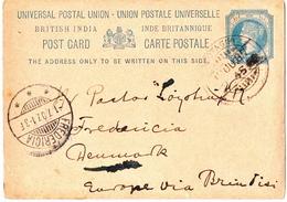 Postal History: British India Postal Stationery Card - India (...-1947)