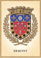 95 ERMONT /   - BLASON  AVEC HERALDIQUE ET PETIT HISTORIQUE AU VERSO - CARTE DOUBLE - Ermont