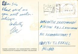 Aland 1987 Mariehamn ATM FRAMA Viewcard - Aland