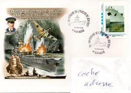 BATIMENT DE LIGNE JEAN BART Evasion Tmbre Personnalisé Obl. Temporaire Saint Nazaire 19/06/10 - Marcophilie (Lettres)
