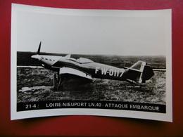 AVION LOIRE NIEUPORT LN 40 ATTAQUE EMBARQUE CARTE PHOTO 12.5 X 9 Cachet - 1939-1945: 2ème Guerre