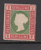 HELGOLAND POSTZEGEL KONINGIN VICTORIA 2 S UITGAVE 1867-1873 - Héligoland