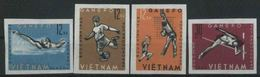 1963 Vietnam Del Nord, Giochi Sportivi Djakarta,  Serie Completa Non Dentellata Senza Gomma - Vietnam