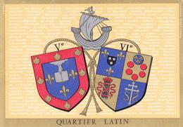 75 PARIS - QUARTIER LATIN - V ET VIème ARROND  /   - BLASON  AVEC HERALDIQUE ET PETIT HISTORIQUE AU VERSO - CARTE SIMPLE - Autres