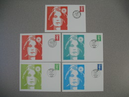 Carte-Maximum 1993   N°  2807 Et   2819  à 2822 - 1990-99