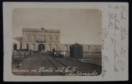 HC Post 1920 - URUGUAY Maldonado PUNTA DEL ESTE - ADUANA - NICE REAL PHOTO POSTCARD - USED RPPC - Uruguay