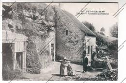 CPA OULCHY LE CHATEAU (02) : Une Bove - Habitation Souterraine (écrite Par Soldat 9eme Rgt Artillerie à Pied) 1916 - France
