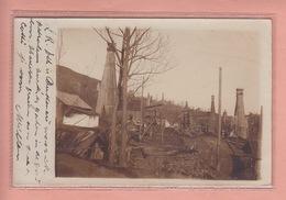OLD  PHOTO POSTCARD  -  ROMANIA  1905 - OIL INDUSTRY - CAMPINA - Rumänien